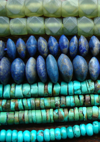 Jade, Lapis and Turquoise beads