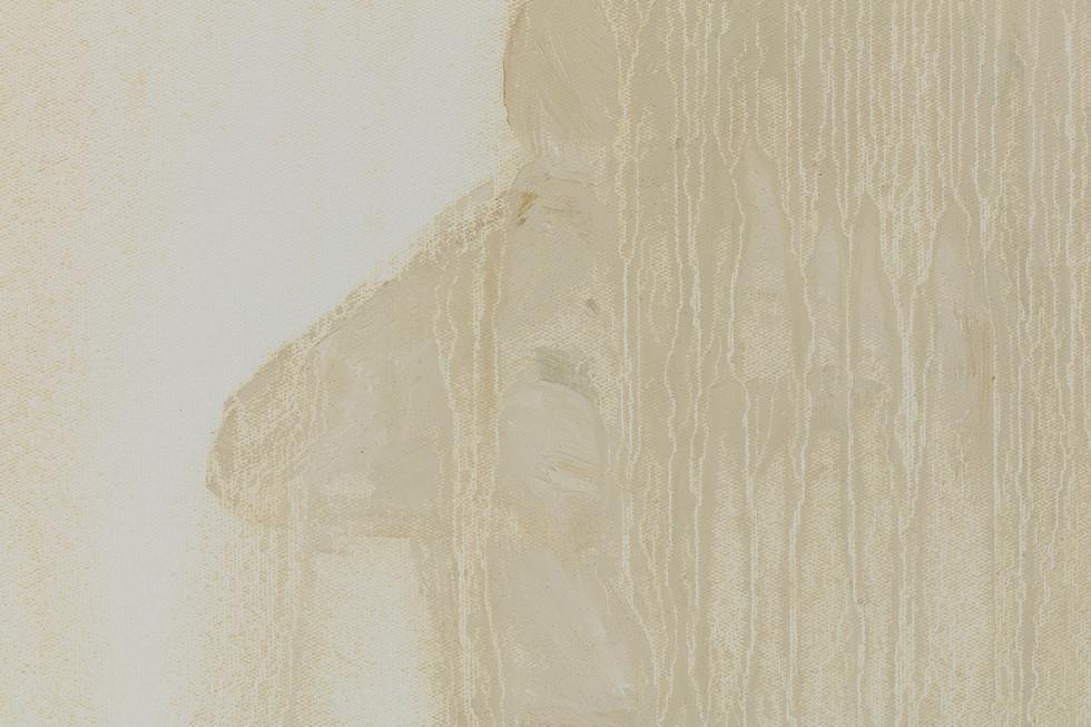 'Bergerac', 2019, oil on canvas, 50 x 60 x 5 cm (detail)