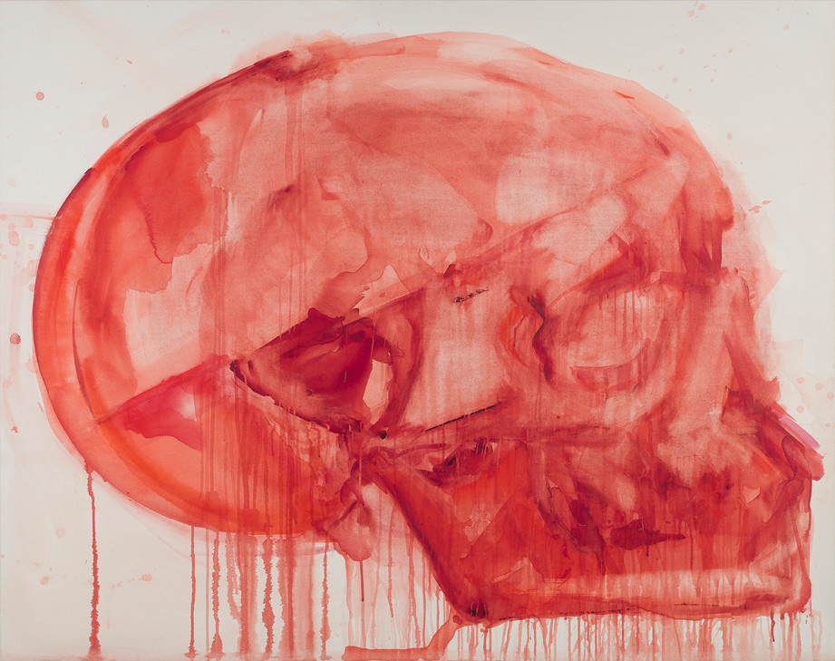 'Fret', 2020, watercolour on canvas, 135 x 170 cm
