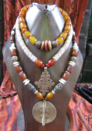 Assorted African beads and pendants