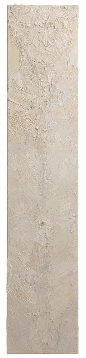 'Axis', 2017, oil on canvas, 100 x 20 cm