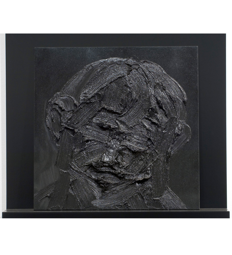 'When in vacant or in pensive mood', 2008, oil on granite, 50 x 54 x 13.5 | framed