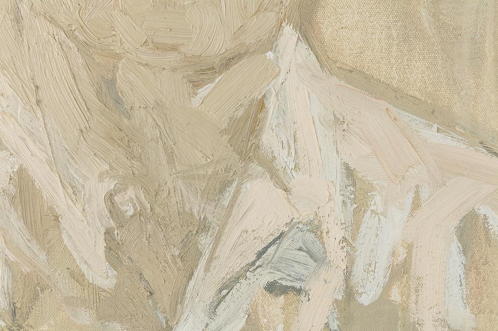 'Crispian', 2019, oil on canvas, 50 x 40 x 5 cm (detail)