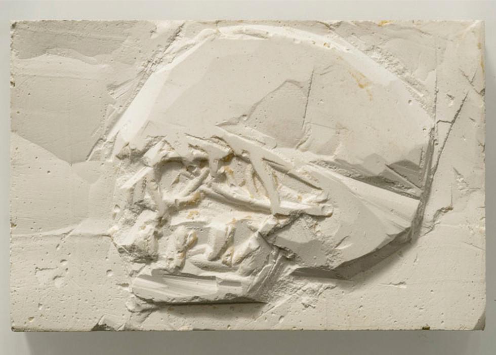 'Little relief I', 2014, plaster of paris, 7 x 11 cm | framed: 26 x 28 x 8cm