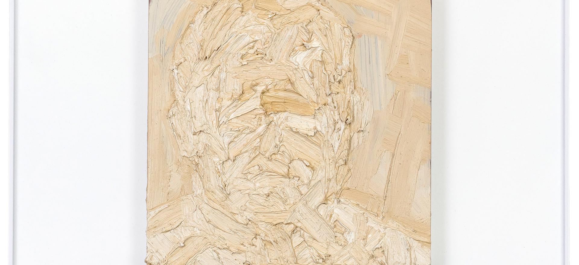 'Frankly', 2012, oil on sandstone, 61 x 61 cm | framed