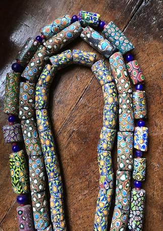 Antique millefiori trade beads
