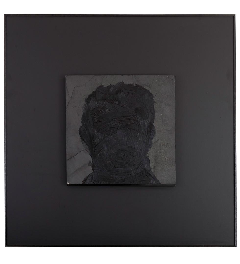 'Shadowy',  2012, oil on slate, 65 x 65 cm | framed