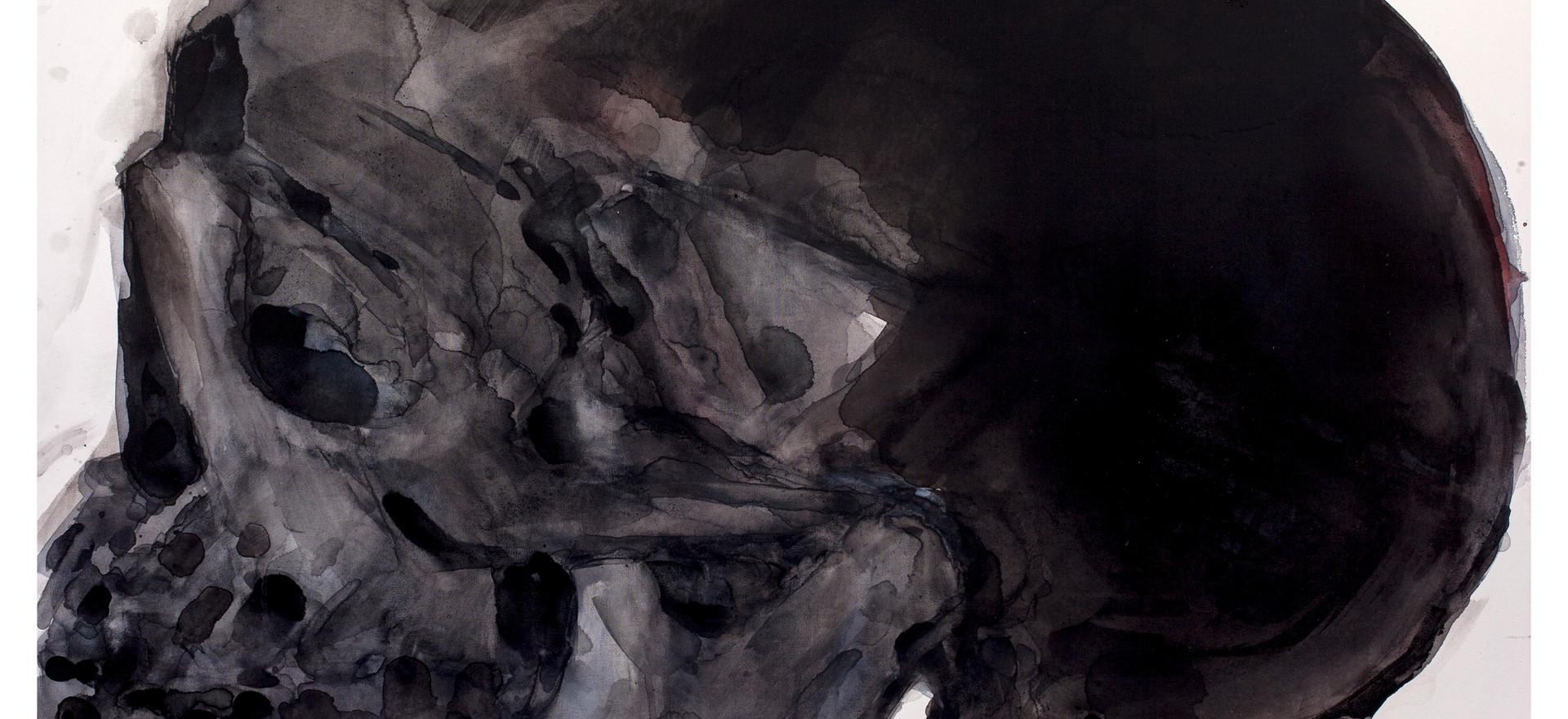 'Eclipse', 2016, watercolour on canvas, 75.5 x 99.5 cm