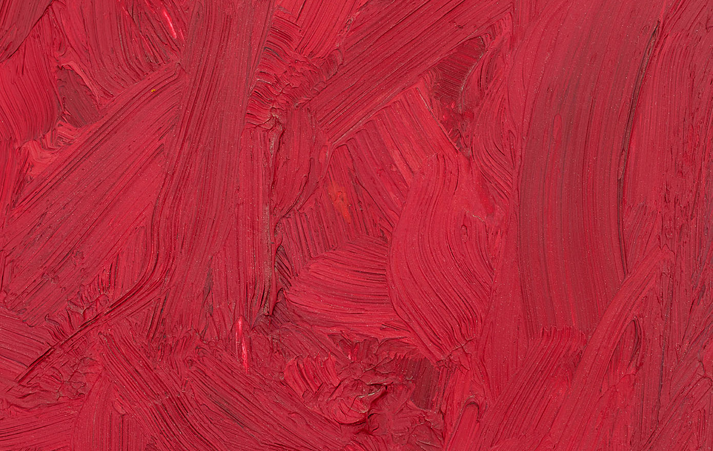'Red remains', 2009, oil on marble, 60 x 30 x 2cm | framed: 67 x 44 x 13.5 cm (Detail)