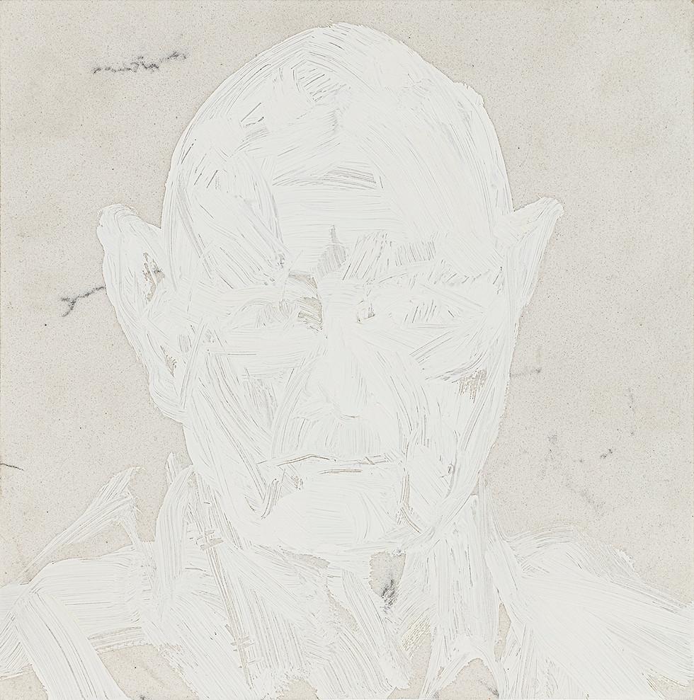 'Elfin', 2019, oil on marble, 28 x 27 x 2 cm