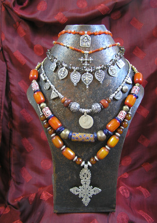 Assorted tribal jewellery