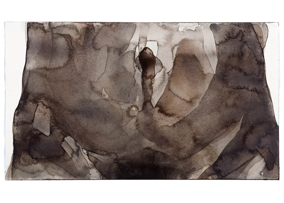 'Navel Series', 2012, watercolour on paper, 19 x 33 cm