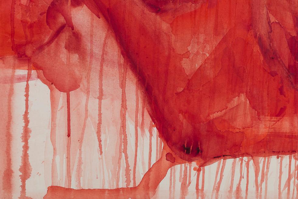 'Fret', 2020, watercolour on canvas, 135 x 170 cm (detail)