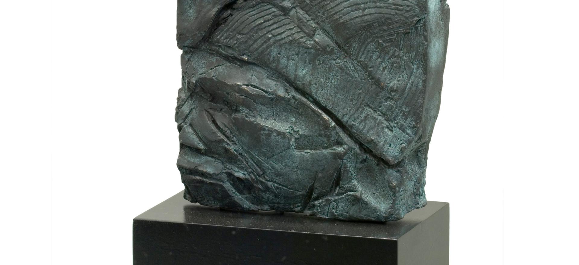 'Pyro I', 2004, bronze, 14 x 13 x 2.5 cm
