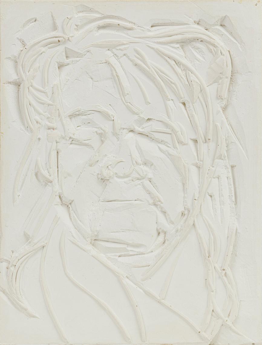 'Billow', 2020, WhatsApp sitting, plaster of Paris, 30 x 23 x 3 cm