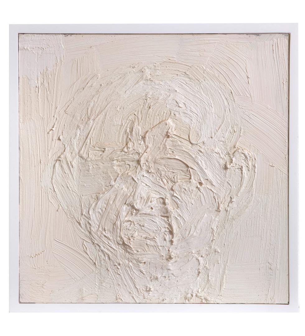 'Leuka', 2008, oil on marble, 31.5 x 31.5 cm