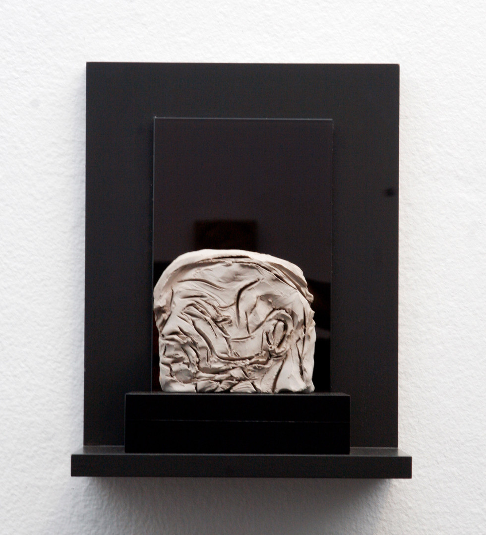 'Fischer', 2005, Sikagard-consolidated clay, 10 x 11 x 2 cm