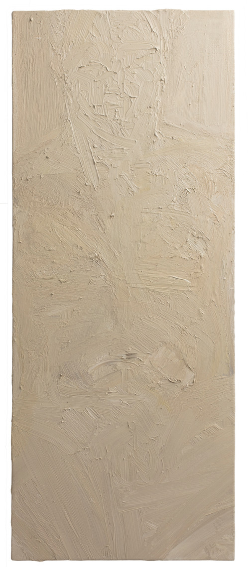 'Register', 2017, oil on canvas, 100 x 40 cm