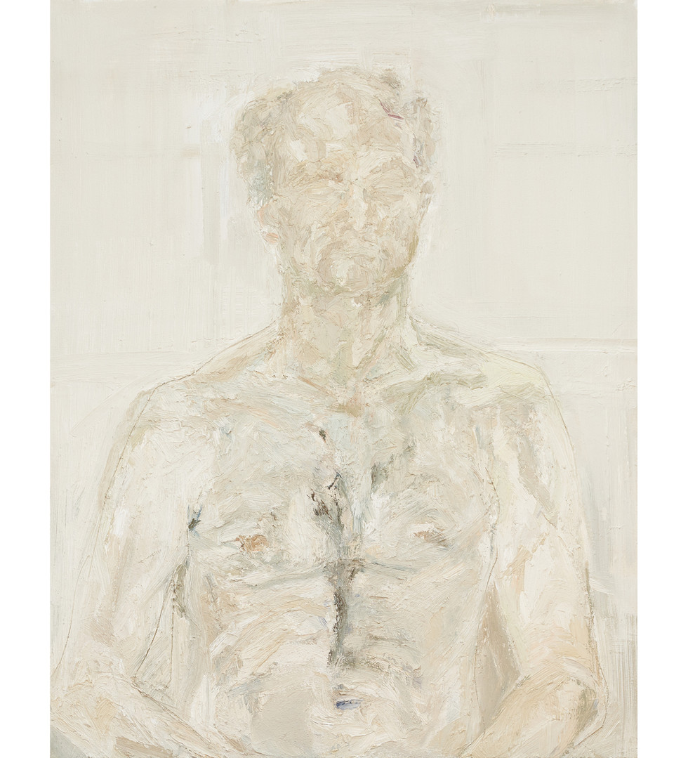 'Head of light', 2015,  oil on canvas, 90 x 70 x 5cm