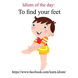 To find your feet