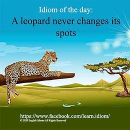 A leopard never changes its spots