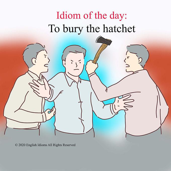 To bury the hatchet