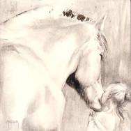 Sonia Ansiaux - Un Amour immense - acrylique et métal imitation or sur panneau de bois 18mm - 20x20