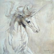 Sonia Ansiaux - Licorne - acrylique sur panneau de bois 18mm - 20x20