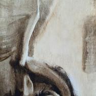 Sonia Ansiaux - Pégase - acrylique sur panneau de bois 18mm - 30x13