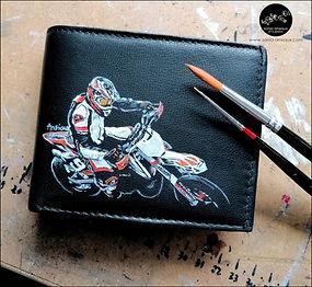 Custom cuir - portefeuilles moto-motard