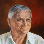Portrait à l'huile sur toile de lin 40x30 - 2008