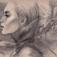 Sonia Ansiaux - fusain et graphite sur papier Daler & Rowney - 16x25