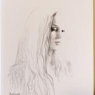 Sonia Ansiaux - graphite et or 24K sur papier Arches satiné - 15x10