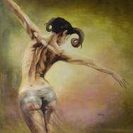 Sonia Ansiaux - commande acrylique sur panneau - 60x60
