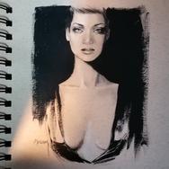 Sonia Ansiaux - graphite et acrylique sur papier Daler & Rowney - 18x13