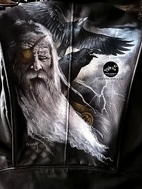 CUSTOM CUIR - blouson Odin, Hugin & Munin - juillet 2021