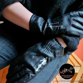Custom cuir - gants Schmitbeaufays Men - avril 2021