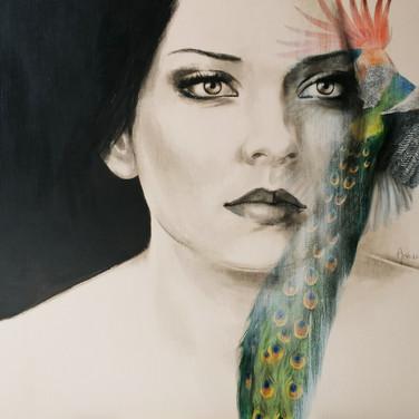 Sonia Ansiaux - Renouveau - acrylique sur panneau - 70x100