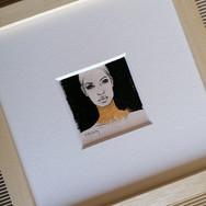 Sonia Ansiaux - graphite, acrylique et feuille d'or 24K sur feuille de bois - 6x6