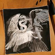 Sonia Ansiaux - Infini - encre de Chine et aquarelle sur papier Arches - 15x15