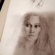 Sonia Ansiaux - esquisse graphite