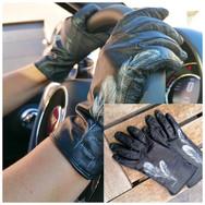 Custom cuir - gants plumes - mars 2021