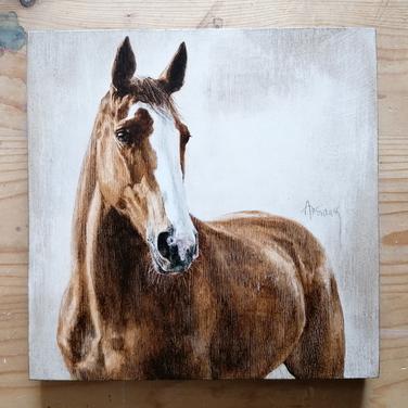 Sonia Ansiaux - Casa - acrylique sur panneau de bois 18mm - 20x20