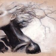 Sonia Ansiaux - graphite et acrylique sur papier Daler & Rowney - 16x25