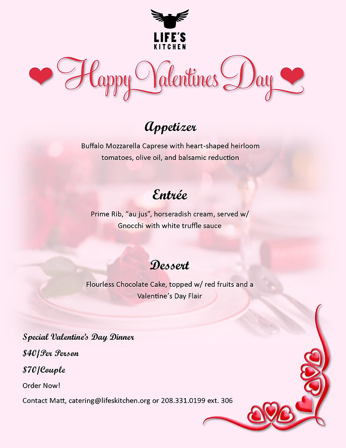 Valentines Day 2-2021 Special Catering M