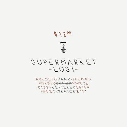 Supermarket.Lost Typeface