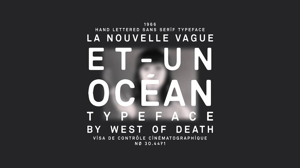 Et Un Océan - Typeface