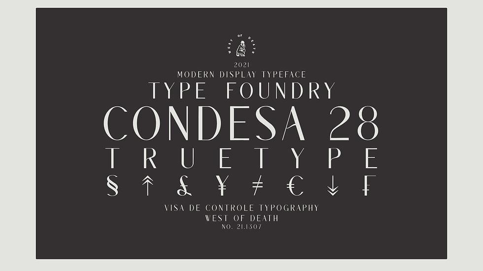 CONDESA 28 - Typeface