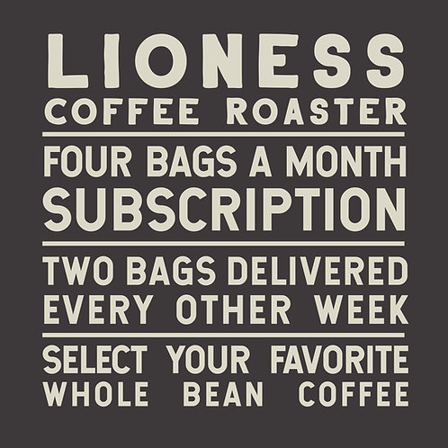 Four Bags a Month Coffee Subscription Delivered Twice a Month