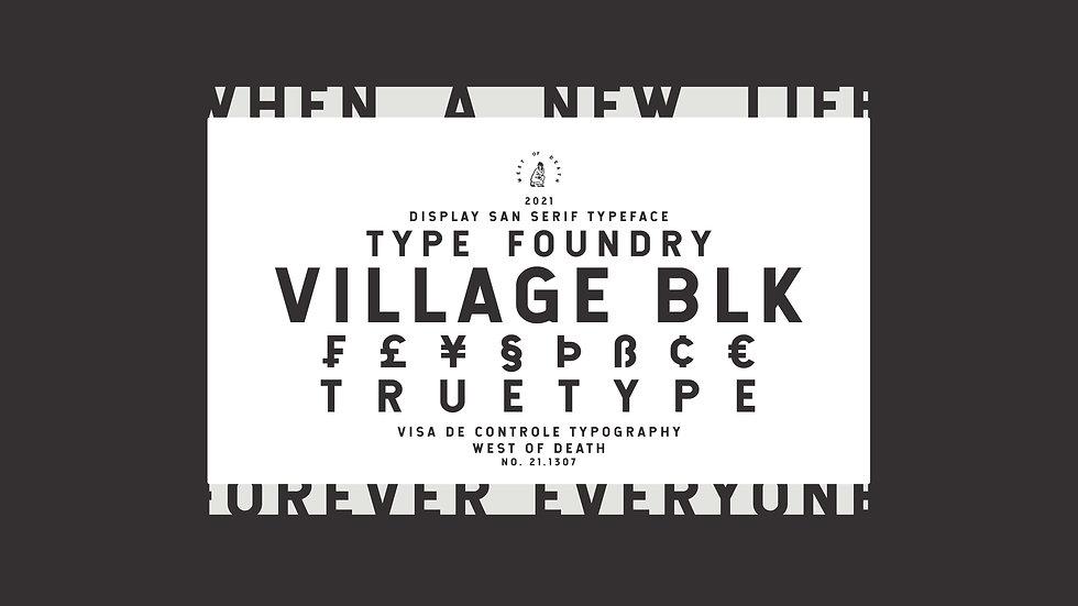 VILLAGE BLK - Typeface